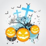 Abstract Halloween art. Stock Afbeeldingen