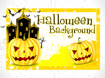 Abstract halloween background with pumpkin Stock Photography
