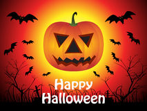 Abstract halloween background with pumpkin Royalty Free Stock Photo
