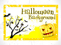 Abstract halloween background with tree Stock Image