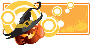 Abstract Halloween banner Royalty Free Stock Photos