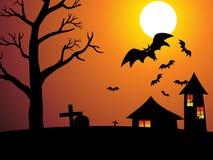 Abstract Halloween behang Royalty-vrije Stock Afbeeldingen