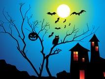 Abstract Halloween-behang Stock Afbeelding