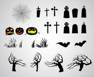 Abstract halloween elements Stock Images