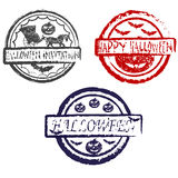 Abstract halloween grunge stamp Royalty Free Stock Photo