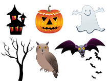 Abstract halloween icons. Vector illustration Vector Illustration