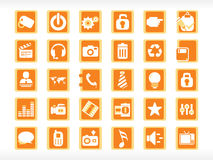 Abstract halloween icons set Royalty Free Stock Photography