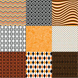 Abstract halloween patterns Stock Image