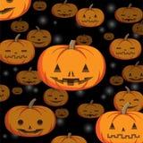 Abstract Halloween-pompoenmalplaatje als achtergrond Stock Fotografie