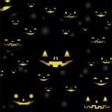 Abstract Halloween-pompoenmalplaatje als achtergrond Royalty-vrije Stock Fotografie