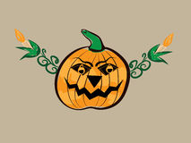 Abstract halloween pumpkin illustration Royalty Free Stock Photos