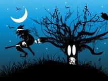 Abstract halloween series5 with an enchanteres Stock Photos