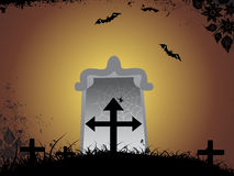 Abstract halloween series5 with Halloween cemetery Royalty Free Stock Image