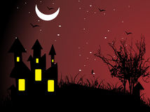 Abstract halloween series5 with Waverley Hills Stock Photography
