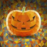 Abstract Halloween Triangles Pumpkin. On Colored Background Royalty Free Stock Photos
