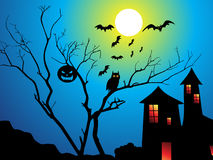 Abstract halloween wallpaper Stock Image