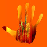 Abstract hand background Royalty Free Stock Photos