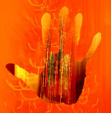 Abstract hand background Royalty Free Stock Image