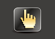Abstract hand cursor button Stock Photos