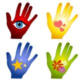 Abstract Hand Designs Clip Art Royalty Free Stock Images