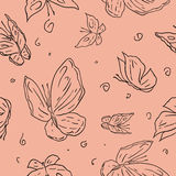 Abstract hand draw butterfly seamless pattern Royalty Free Stock Images