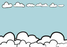 Abstract hand draw doodle sketch sky background , vector Royalty Free Stock Photos