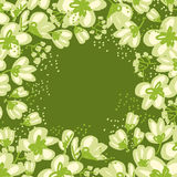 Abstract hand drawn apple blossom vector illustration Stock Photography