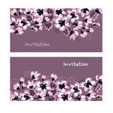 Abstract hand drawn apple blossom vector illustration Royalty Free Stock Photography