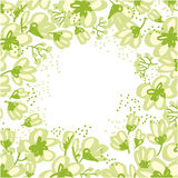 Abstract hand drawn apple blossom vector illustration. Stock Photo
