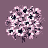 Abstract hand drawn apple blossom vector illustration Royalty Free Stock Photo