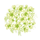 Abstract hand drawn apple blossom vector illustration Royalty Free Stock Image