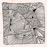 Abstract hand drawn background with different patterns. Stock Image