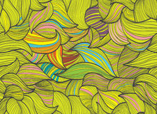 Abstract hand-drawn background, Seamless pattern Stock Photography