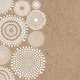 Abstract hand-drawn  background with space for text on kra. Decorative  background with space for text. Vector illustration on kraft paper Royalty Free Stock Photography