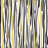 Abstract hand drawn black and gold seamless. Patterns EPS 10 Royalty Free Stock Photography