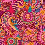 Abstract hand-drawn bloempatroon Stock Afbeelding