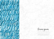 Abstract hand drawn blue background with place for your text.
