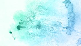 Abstract hand drawn blue watercolor background, raster illustration. Artistic background beautiful color texture. Hand drawn watercolor blue paint background Royalty Free Stock Images