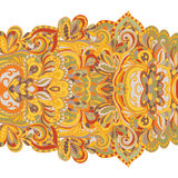 Abstract hand-drawn border pattern. Seamless Stock Photography