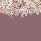 Abstract hand-drawn border pattern. Seamless Royalty Free Stock Image