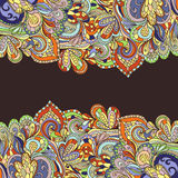 Abstract hand-drawn border pattern. Seamless Royalty Free Stock Images