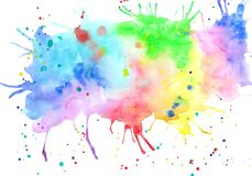 Abstract hand drawn bright watercolor blotch.  royalty free illustration