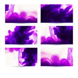 Abstract hand drawn cards design. Composition for scrapbook elem. Ents with space for text message. Inks, colorful abstraction. Set of six banners, abstract Royalty Free Stock Image