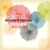 Abstract Hand Drawn Circles And Splashes Design Stock Photos
