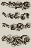 Abstract hand drawn cloud collection vector illustration