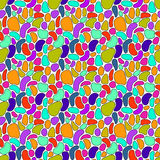 Abstract hand drawn colorful seamless pattern. Royalty Free Stock Photo