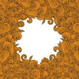 Abstract hand-drawn curly wave pattern. Stock Photos