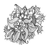 Abstract hand drawn doodle flower Stock Photo