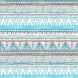 Abstract hand-drawn ethnic pattern, tribal background. Vector pattern. blue Ethnic seamless Stock Image