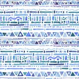 Ethnic pattern. Watercolor Seamless background royalty free illustration